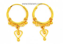 baby gold earrings gold baby hoop earrings ear bali in 22k gold 235 ger7262 in