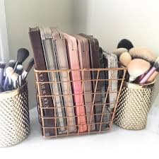 Hair And Makeup Storage Great Idea Of Using A Small Wire Basket To Organize Your Eye