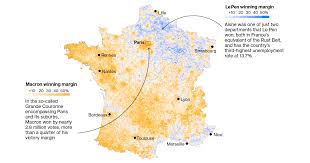 France On A Map by French Election Second Round Maps