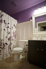 bathroom floral shower curtains combine with wainscoting also