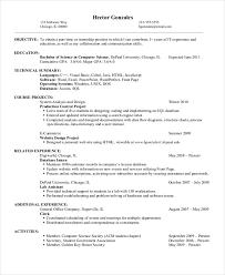 engineering student internship resume sle computer science resume keywords resume sle for internship exles