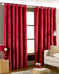 emperor eyelet lined curtains red free uk delivery terrys fabrics