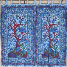 eclectic indian curtain panels tree of life window coverings