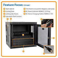amazon com tripp lite 16 port ac charging storage station cabinet