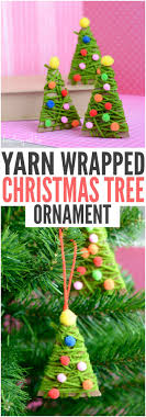 yarn wrapped tree ornaments ornament