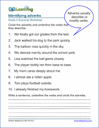 adverbs worksheets grade 2 sample english pinterest