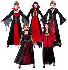 vampire dress fangs ladies halloween fancy dress horror spooky