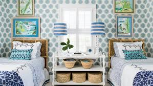blue and white rooms blue and white beach house decorating coastal living