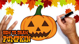 how to draw halloween pumpkin drawing lesson youtube