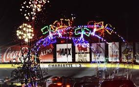 charlotte motor speedway christmas lights 2017 speedway lights up for christmas season on saturday night