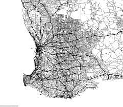Black And White Map The Incredible Images That Map All The Roads In Australia Daily