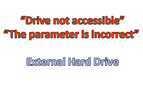 drive not accessible solution drive not accessible the parameter is incorrect