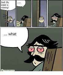 Dad Comic Meme - dad my weed is missing what stoner comics net meme on me me
