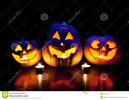 halloween pumpkins glowing inside royalty free stock photography