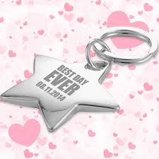 keychain favors wedding favors shaped keychains w ring silver wedding