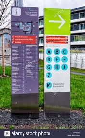 Stuttgart Germany Map by Map And Information Board Of Stuttgart Klinikum Hospital