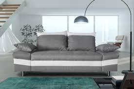 canapé fixe tissu canapé fixe 3 places contemporain en tissu gris pu blanc thibaut