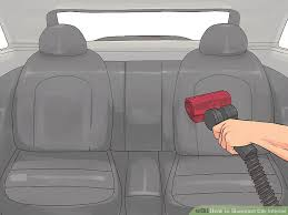 How To Remove Mildew From Car Interior 3 Ways To Shampoo Car Interior Wikihow