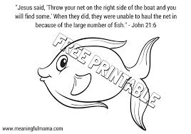 jesus miraculous catch fish craft