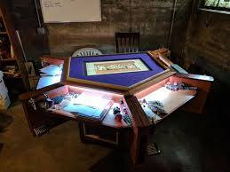 room and board custom table incredible custom d d gaming table has built in pc lights and beer