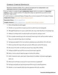 using commas worksheets grammar and 5th grade reading