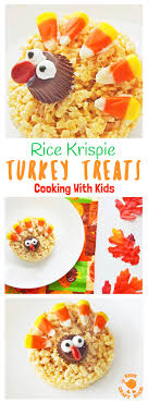 adorable turkey rice krispie treats craft room