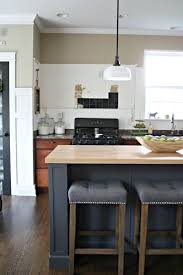 interior kitchens without upper cabinets outside fireplace