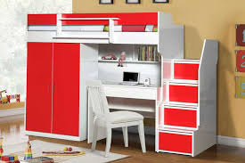 Bunk Bed With Study Table Simplicity And Practicality All In This Bunk Bed