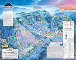 1600 Map Of America by Smugglers Notch Trail Map