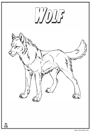 wolf animal coloring book pages