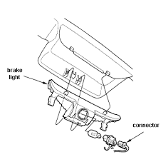 2008 honda civic third brake light how do i change the third brake light on a 2005 honda civic ex 4door