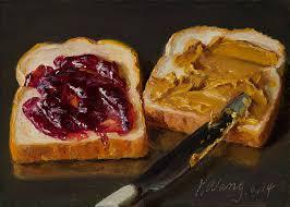 wang fine art pb u0026j peanut butter and jelly sandwich food daily