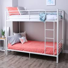 Twin Metal Loft Bed With Desk Bedroom Furniture Sets Pink Bunk Beds Bed Kids Loft Bed With