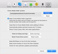 locate and organize your itunes media files apple support