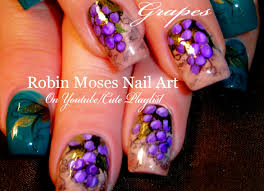 robin moses nail art grape vine vinyard nail art