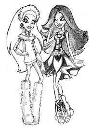 abbey bominable coloring pages free printable monster high coloring pages for kids