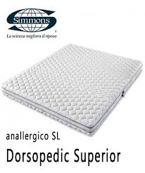 materasso antiallergico materasso dorsopedic superior simmons anallergico sfoderabile