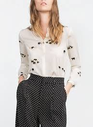 elephant blouse blouse white black and pink elephant print