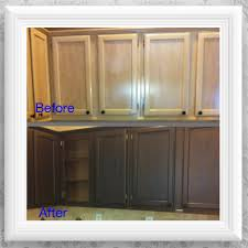 diy kitchen cabinet makeover primer metallic bronze paint