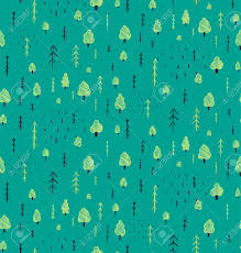 forest hand drawn seamless pattern background wallpaper tileable