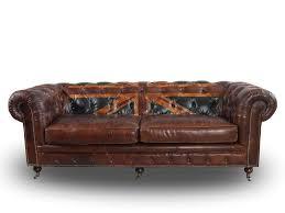 sofa 3 sitzer leder chesterfield sofa 3 sitzer aus vintage leder mit union by