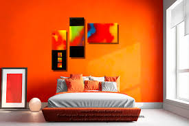 chambre toute chambre chambre coloree tableau nouveau deco colore triptyque