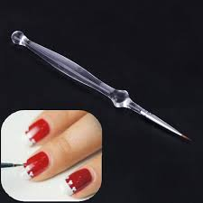 clear acrylic handle nail art brush painting liner drawing paint