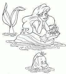 cuentos infantiles ariel colorear la sirenita dibujos