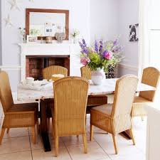 Rattan Dining Room Furniture by Dining Room With Rattan Dining Chairs And Granite Table Top