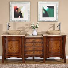 amazon com silkroad exclusive travertine stone top modern double