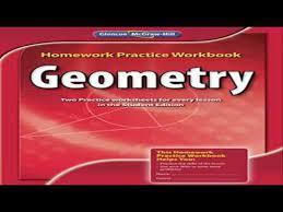 geometry homework practice workbook merrill geometry youtube