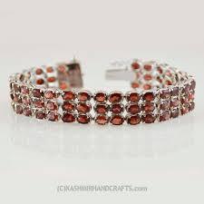garnet sterling silver bracelet images Red garnet bracelet sterling silver royal kashmir fine arts jpg