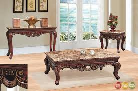 End Table Living Room 3 Living Room Coffee End Table Set W Marble Tops In And