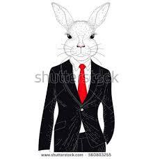 classic rabbit vector rabbit boy classic stock vector 560803255